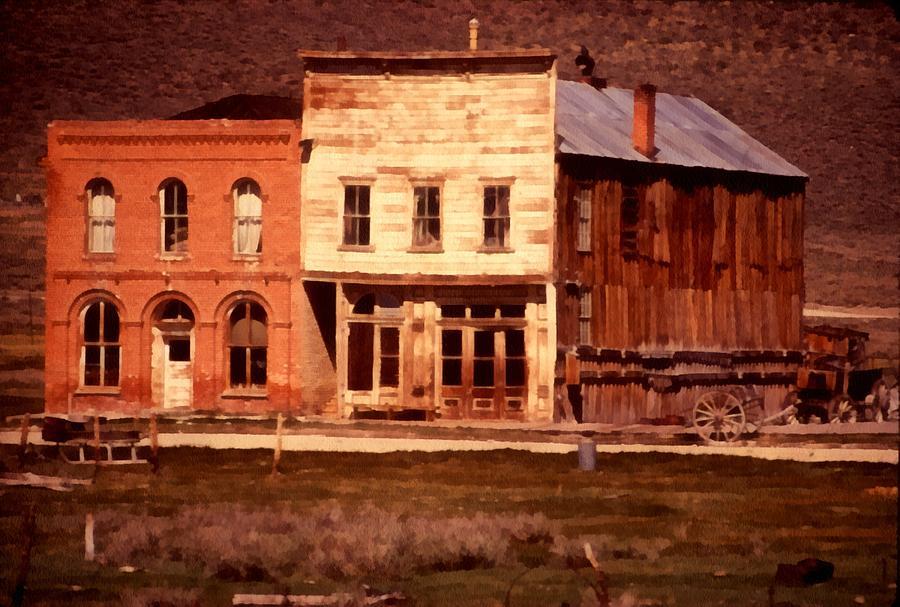Ghost Town Bodie California Digital Art - Ghost Town Bodie California by Dick Rowan