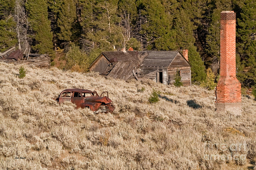 Comet Photograph - Ghost Town Remains by Sue Smith