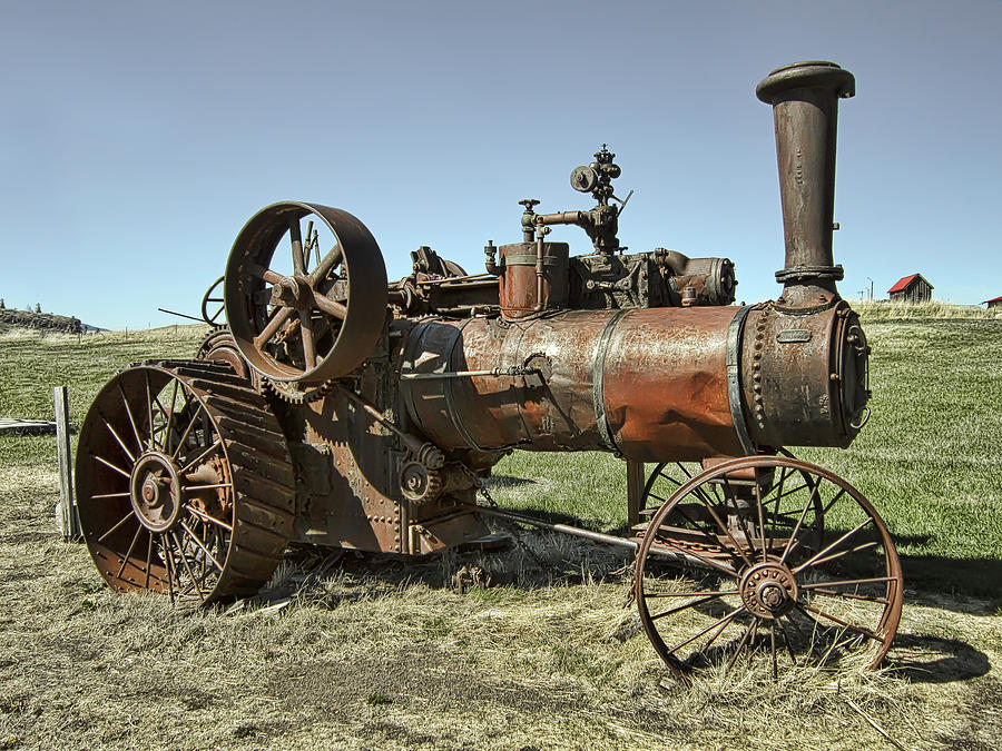 Tractor Photograph - Ghost Town Steam Tractor by Daniel Hagerman