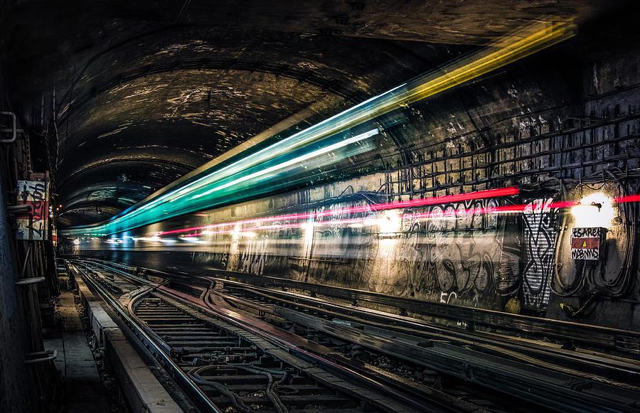 Paris Metro Photograph - Ghost Train by Xavier Liard