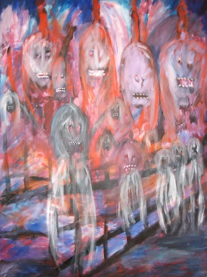 Ghosts Painting - Ghost Walk by Randall Ciotti