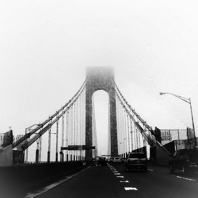 Newyork Photograph - Ghostbridge  #newyork #blackandwhite by Matthew Bryan Beck