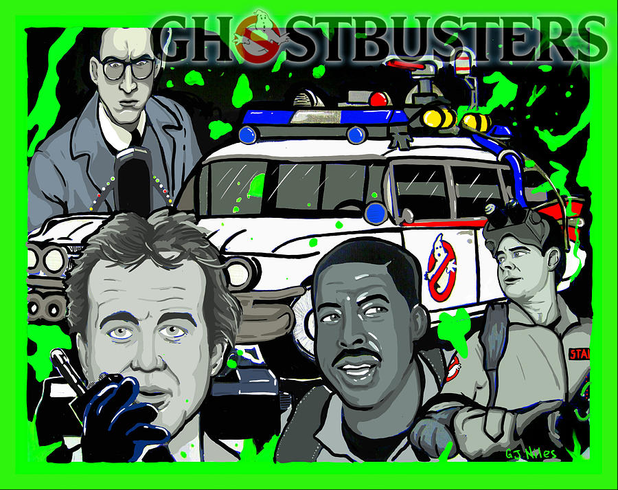 Horror Mixed Media - Ghostbusters by Gary Niles