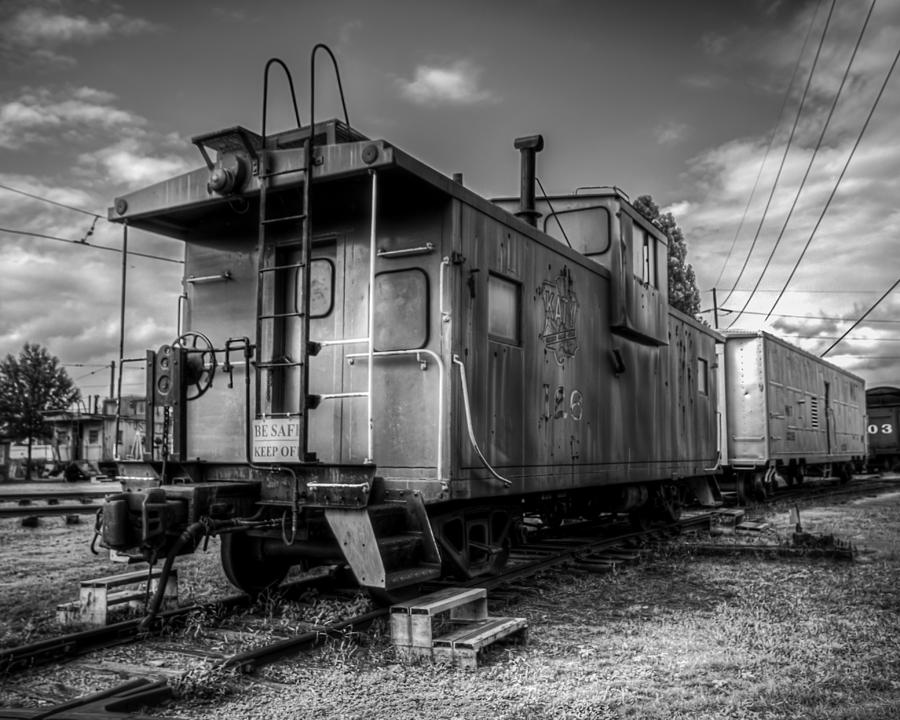 Caboose Photograph - Ghostly Caboose by James Barber