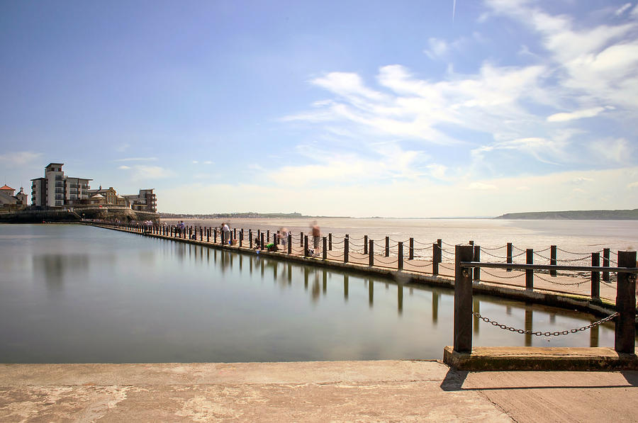 Seaside Photograph - Ghostly Walkway by Robin Chun