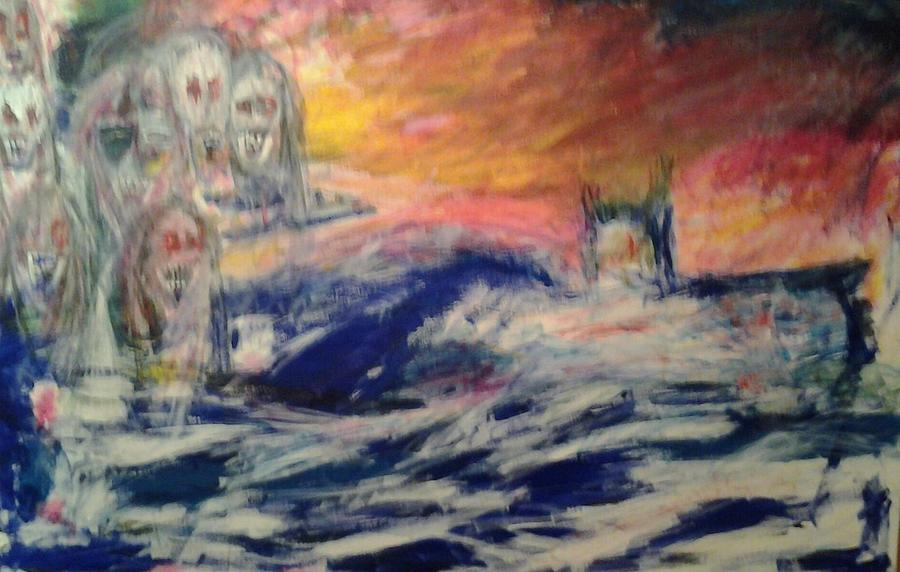 Ghosts Of The Seven Seas Painting by Randall Ciotti