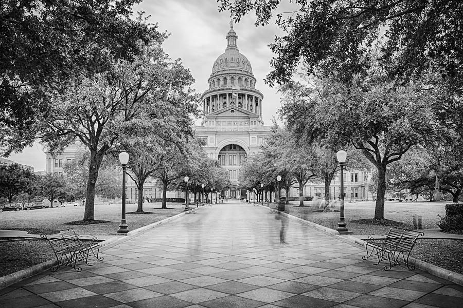 Texas State Capitol Photograph - Ghosts Of The Texas State Capitol - Austin Texas Skyline by Silvio Ligutti