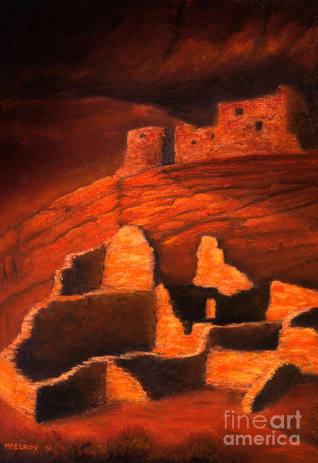 Arizona Painting - Ghosts Of White House Ruins by Jerry McElroy