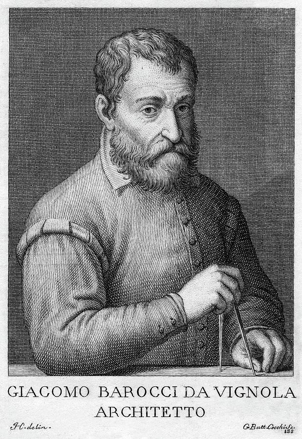 16th Century Painting - Giacomo Barozzi Da Vignola (1507-1573) by Granger