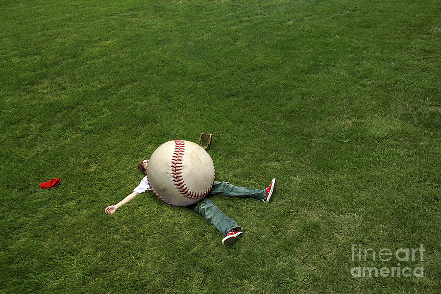 Baseball Photograph - Giant Baseball by Diane Diederich