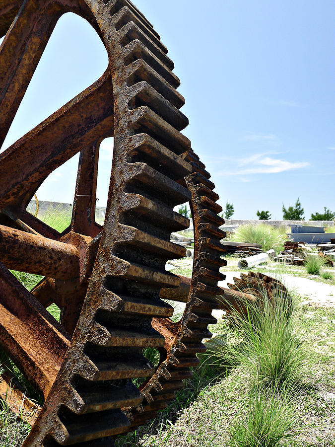 Industrial Photograph - Giant Cog by Richard Reeve