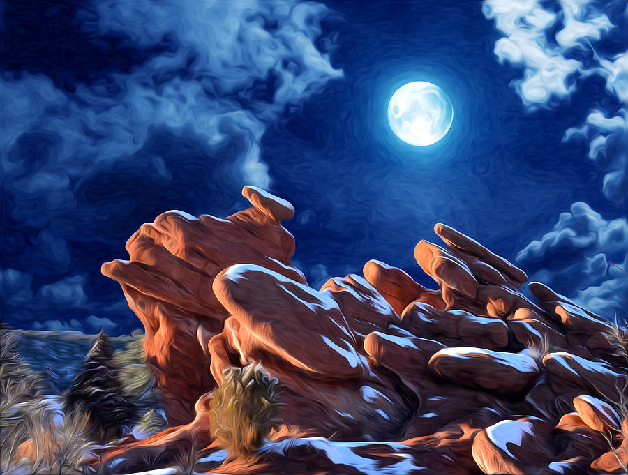 Moon Photograph   Giant Footprints At The Garden Of The Gods By John Hoffman