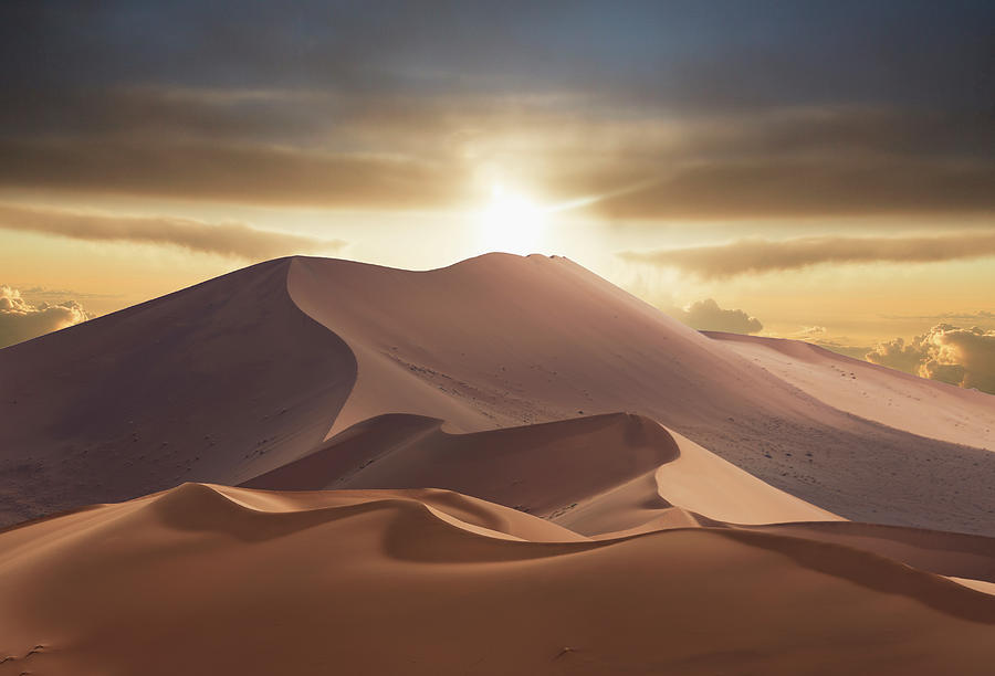 Giant Sand Dunes In Namib Desert Photograph by Buena Vista Images