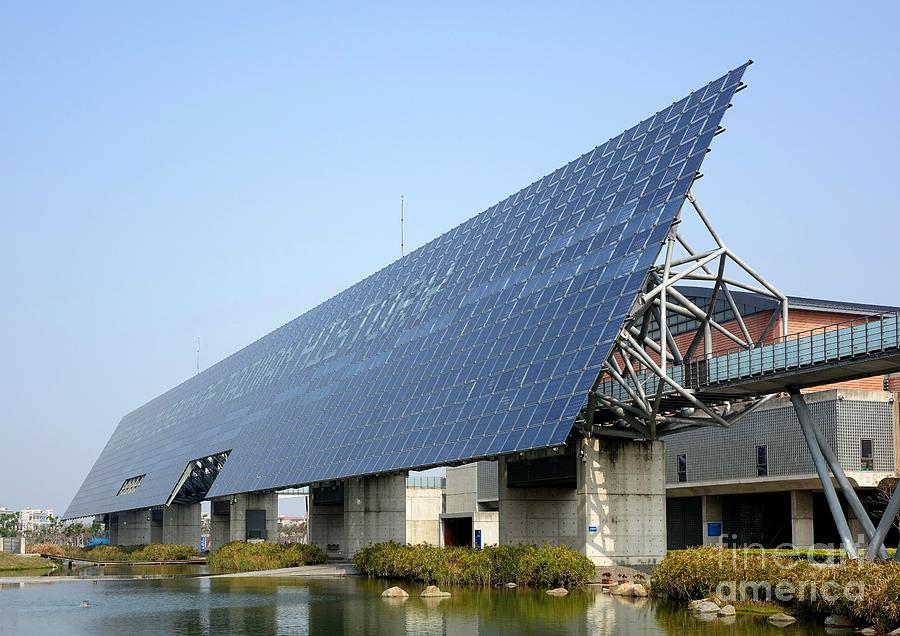 Solar Panel Wall >> Giant Solar Panel Wall In Taiwan Photograph By Yali Shi