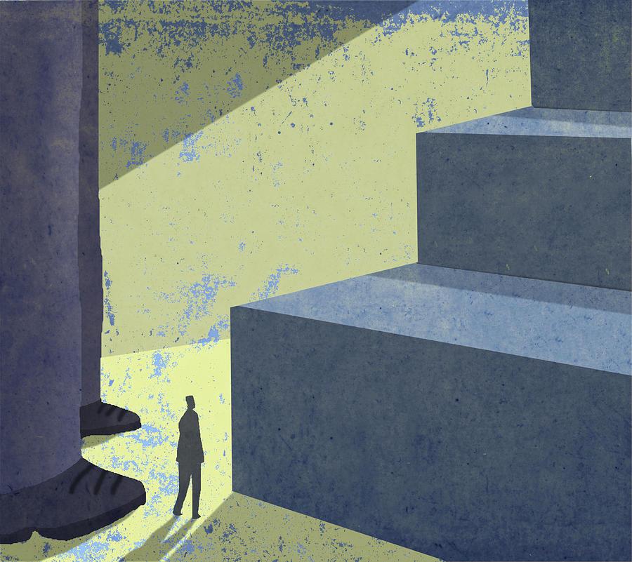 Poster Digital Art - Giant Step by Steve Dininno