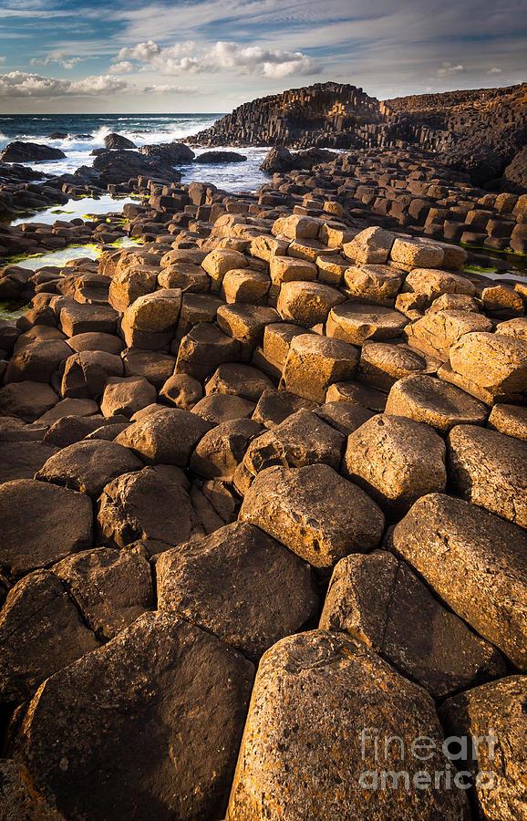 Europe Photograph - Giants Causeway Bricks by Inge Johnsson