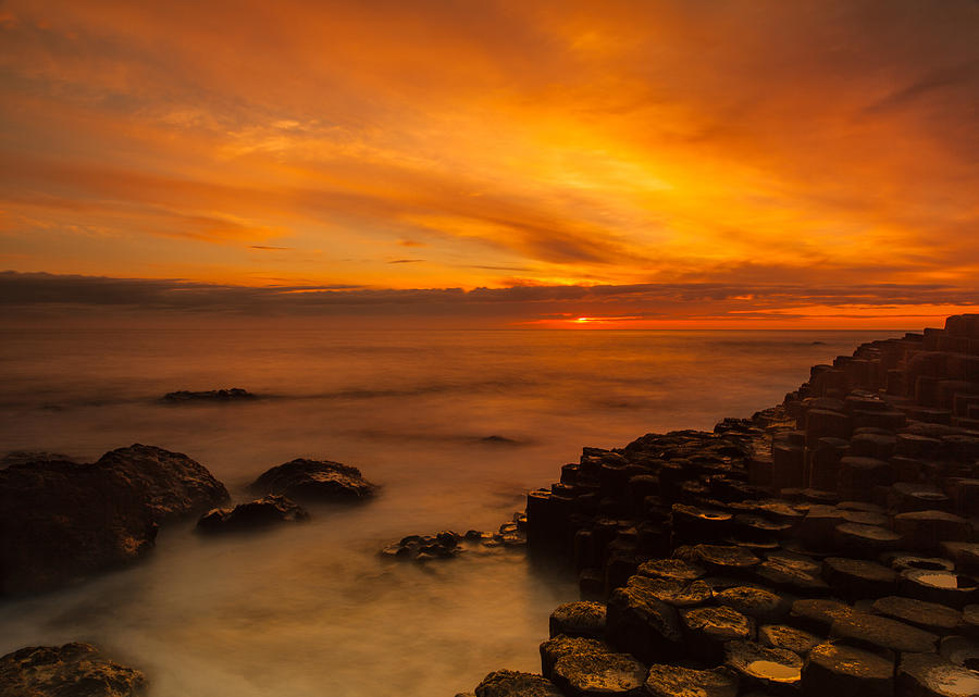 Craig Photograph - Giants Causeway Sunset by Craig Brown