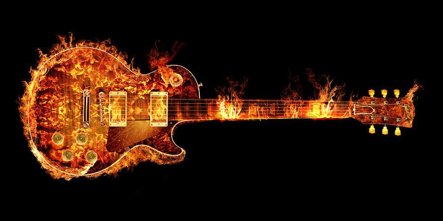 Les Paul Guitar gibson les paul guitar on fire photographrobert gardiner
