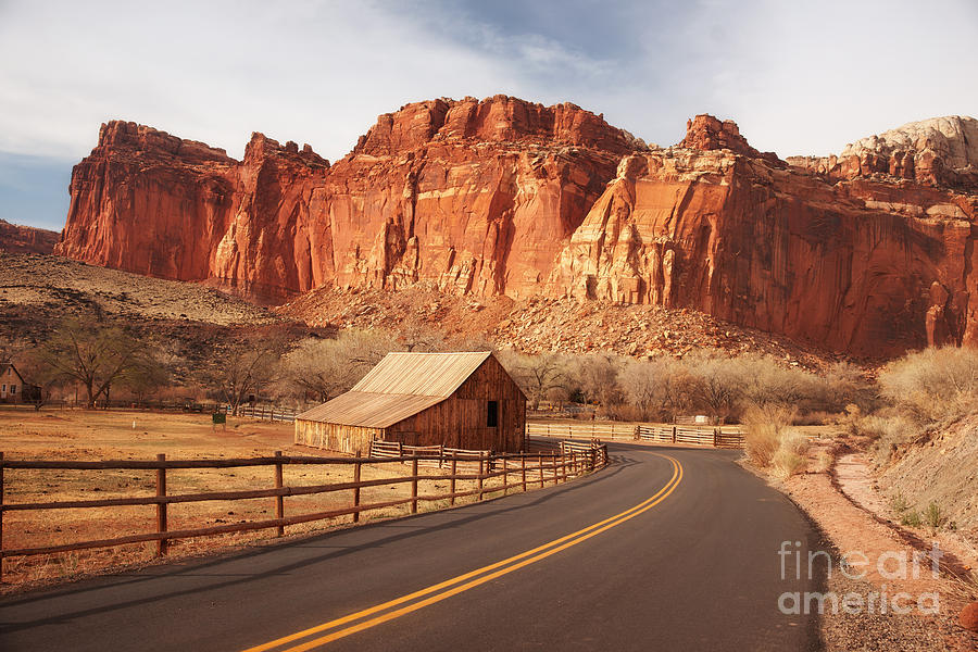 Capitol Reef National Park Photograph - Gifford Barn At Capitol Reef National Park by Carolyn Rauh