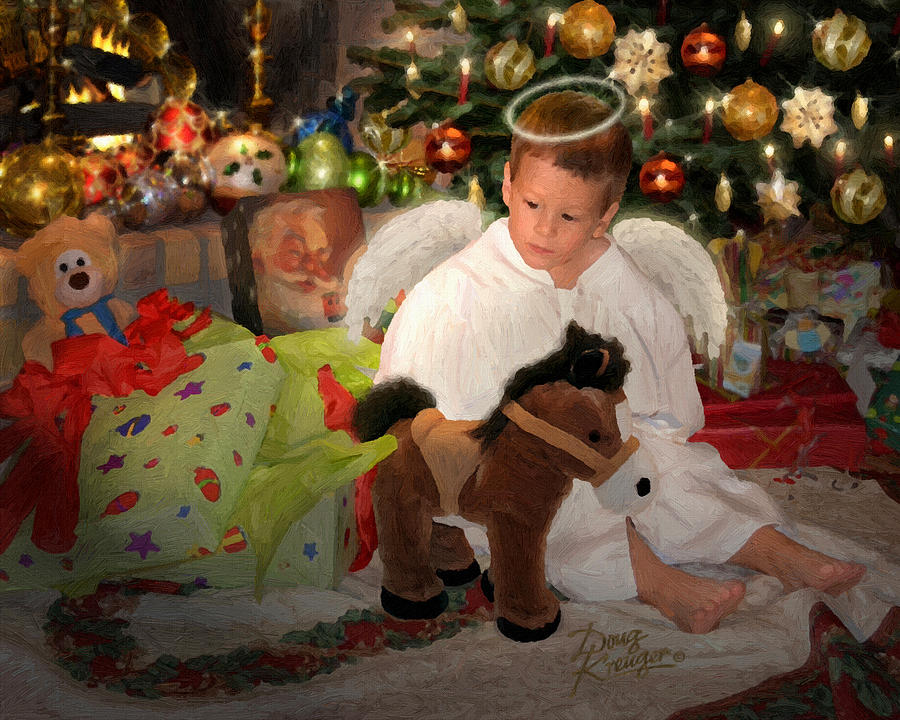 Gift Of Christmas By Doug Kreuger Painting - Gift Of Christmas by Doug Kreuger