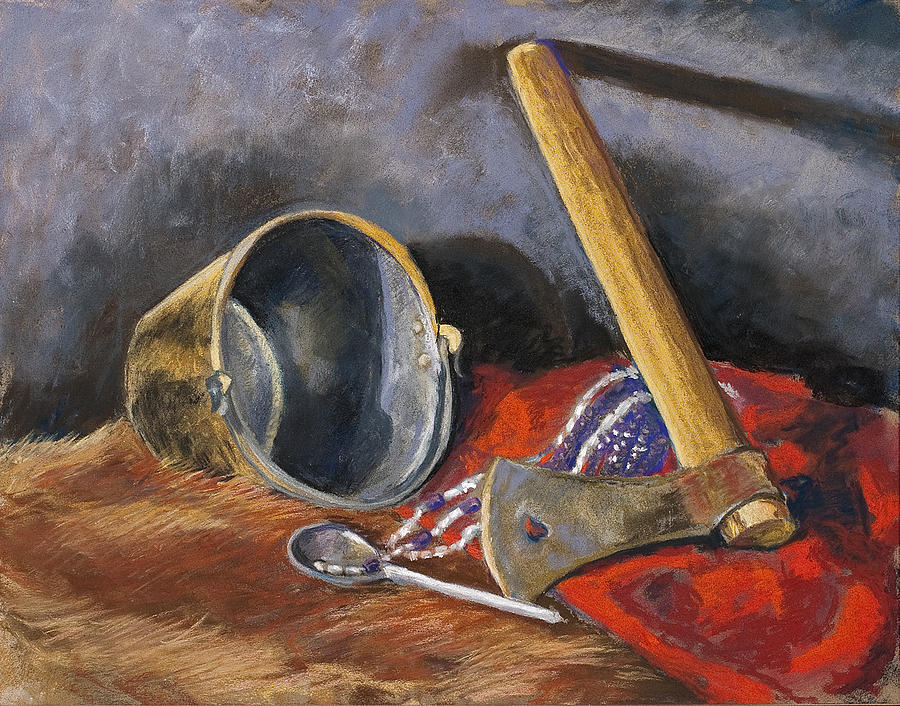 Still Life Painting - Gifts Of The Ax Makers by Jennifer Richard-Morrow