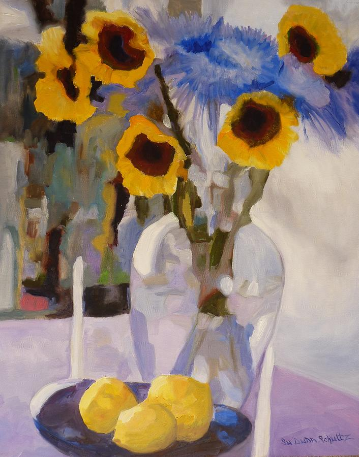 Still-life Painting - Gifts Of The Sun by Susan Duda