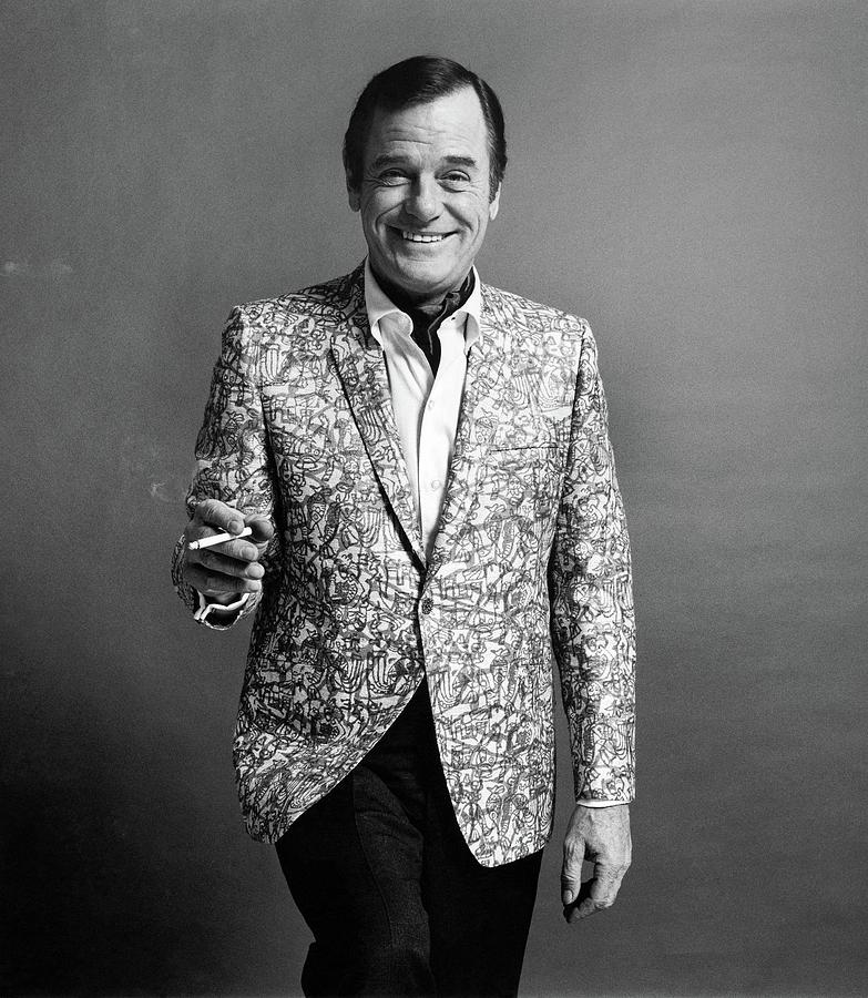 Gig Young Smoking Photograph by Leonard Nones