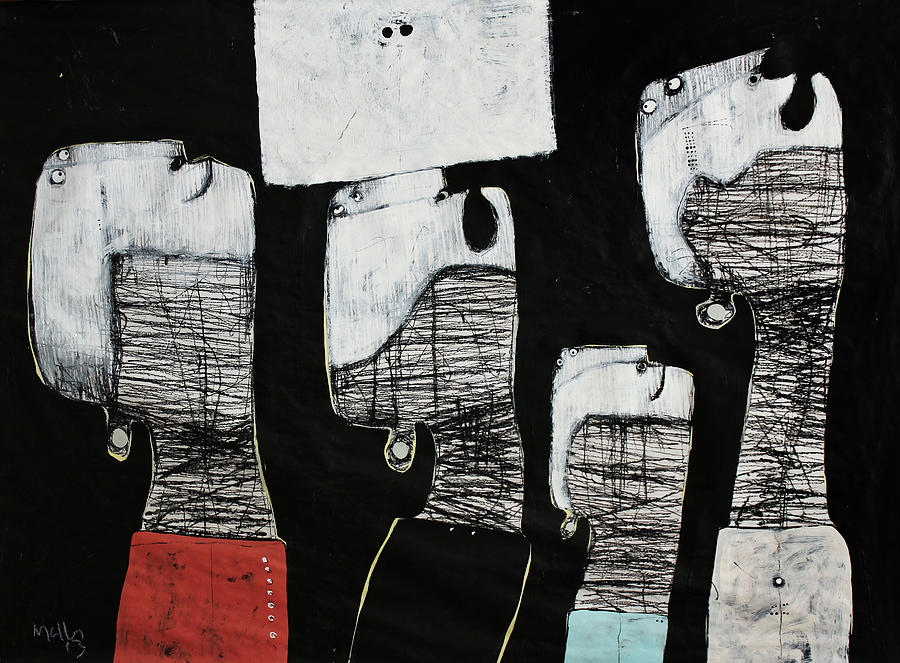 Acrylic Painting - Gigantes No. 10 by Mark M  Mellon