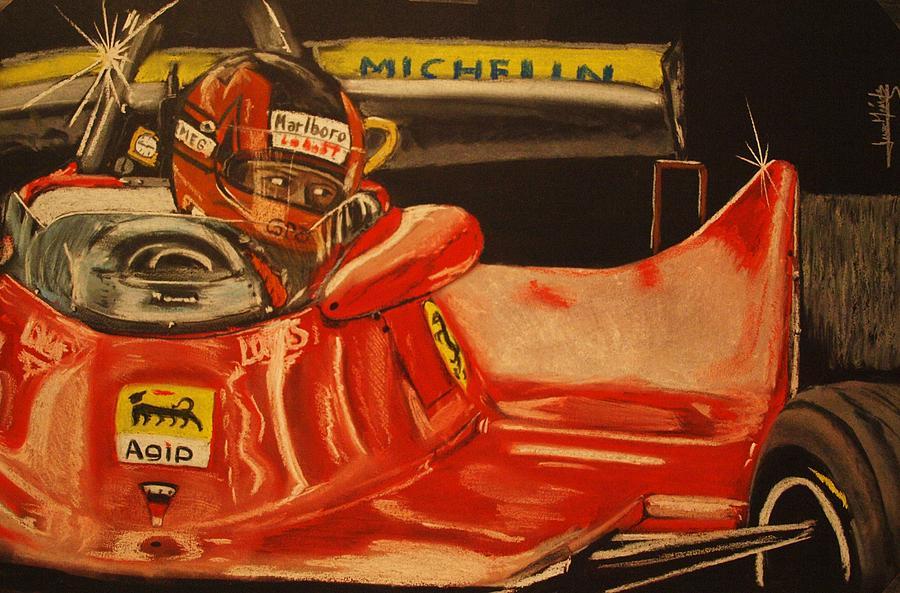 Gilles Villeneuve Painting - Gilles Villeneuve At Monaco 1980 by Juan Mendez