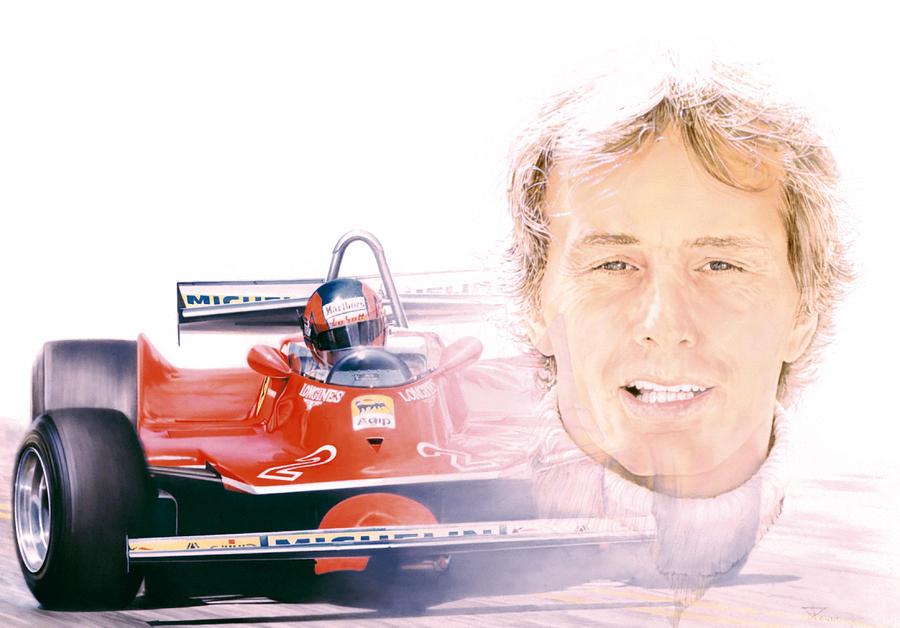 Villeneuve Painting - Gilles Villeneuve  Ferrari T5  1980 by Alberto Ponno