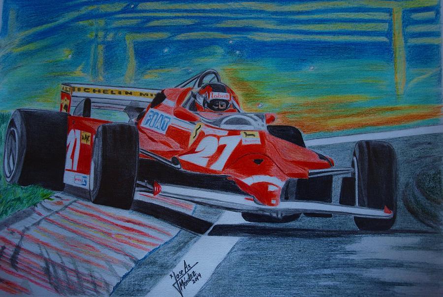 Motorsport Painting - Gilles Villeneuve by Jose Mendez