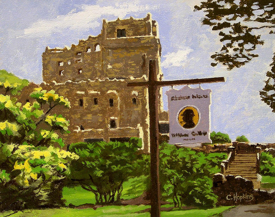 Christine Hopkins Painting - Gillette Castle East Haddam Connecticut by Christine Hopkins