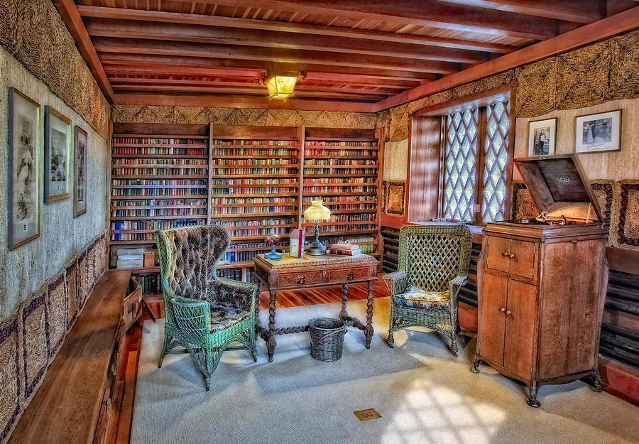 Connecticut Photograph - Gillette Castle Library by Susan Candelario