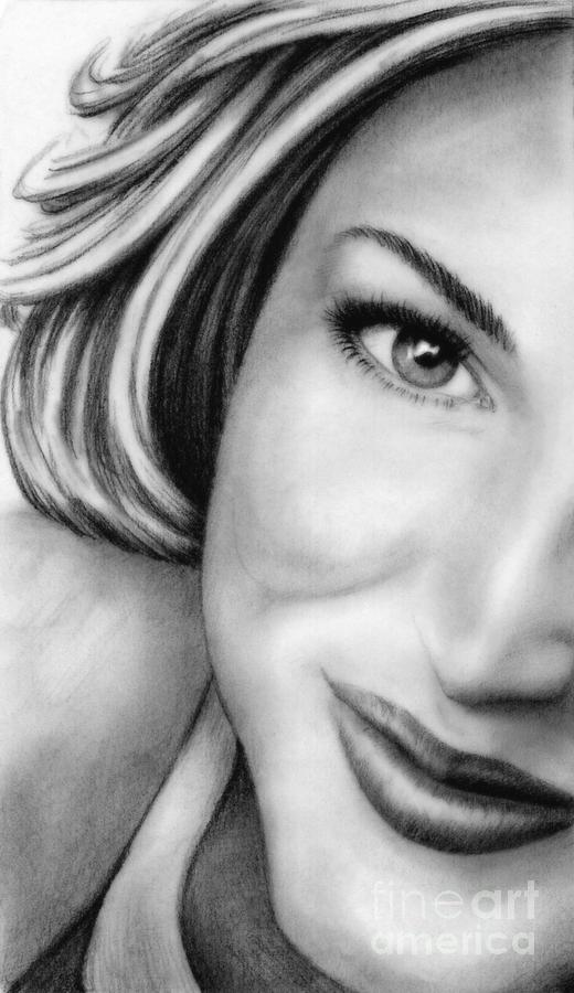 Gillian Anderson Drawing - Gillian Anderson by Wu Wei