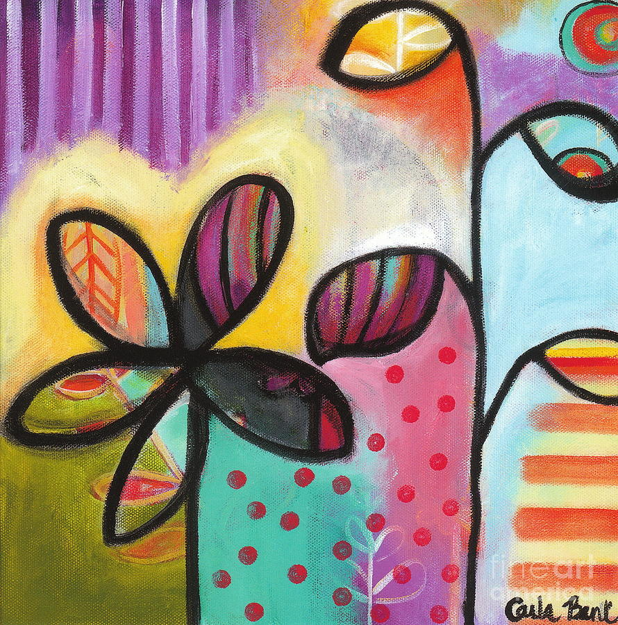 Flowers Painting - Gimme Shelter by Carla Bank