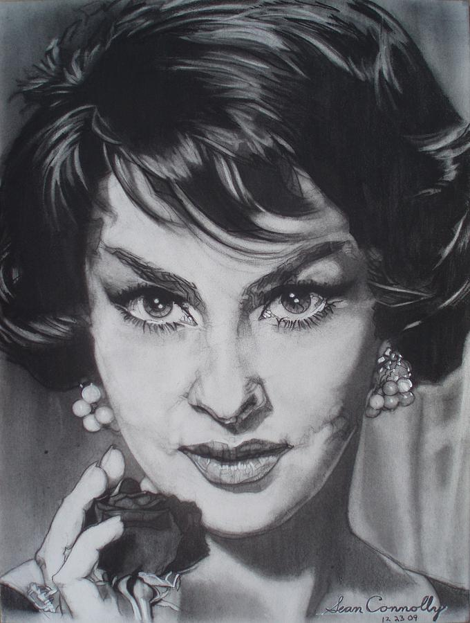 Gina Lollobrigida Drawing by Sean Connolly