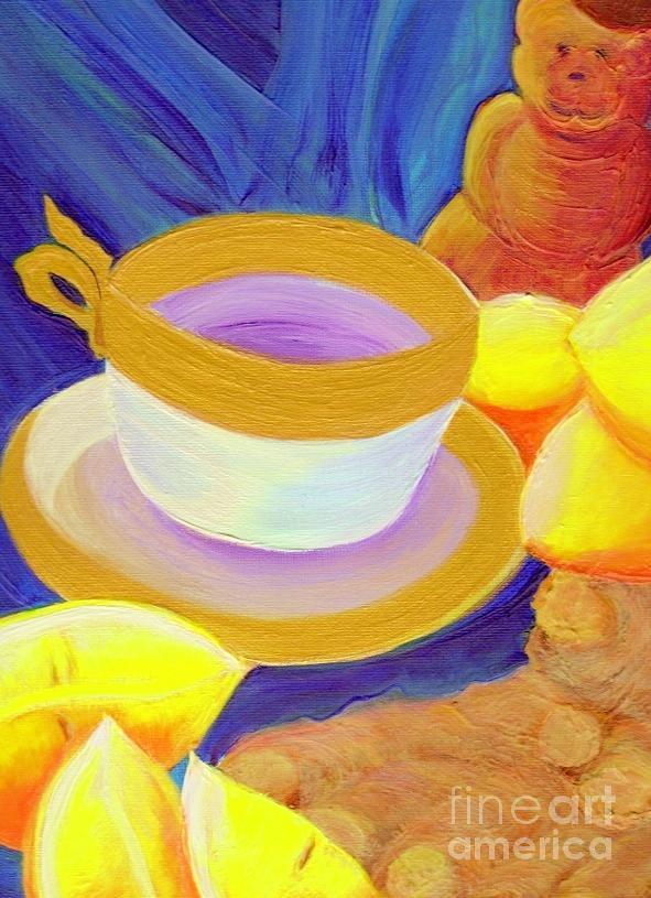 Ginger Painting - Ginger Lemon Tea By Jrr by First Star Art