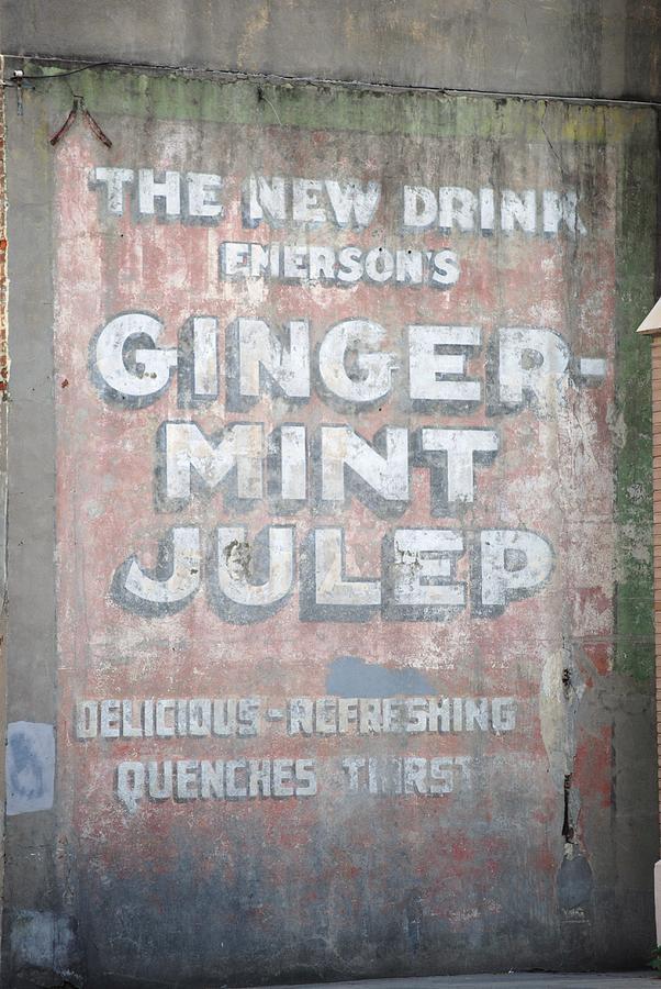 Ghost Writing Photograph - Ginger-mint Julep by Pamela Schreckengost