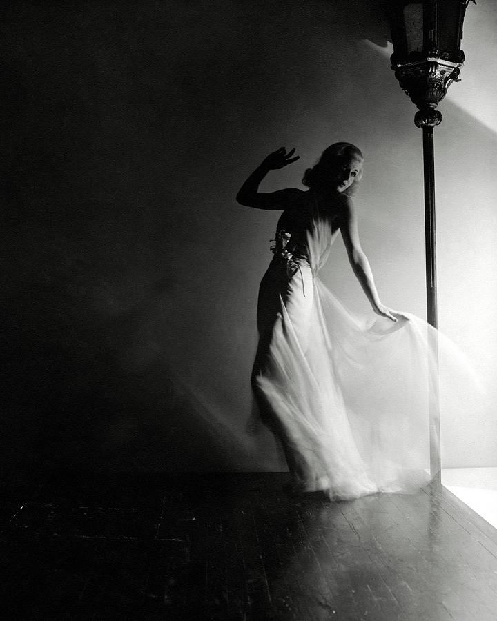 Ginger Rogers Wearing An Evening Gown Photograph by Horst P. Horst