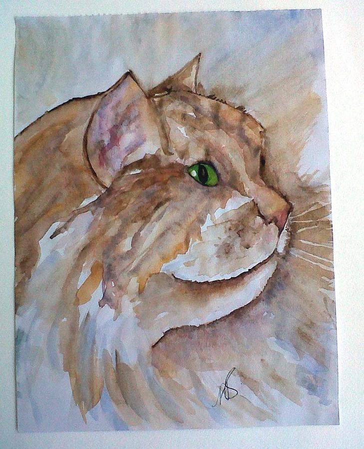 Cat Painting - Ginger Tom I by Paula Steffensen