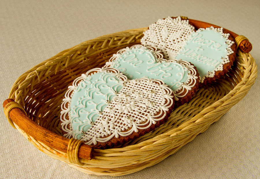 Gingerbread Hearts In The Basket By Alexander Parusov