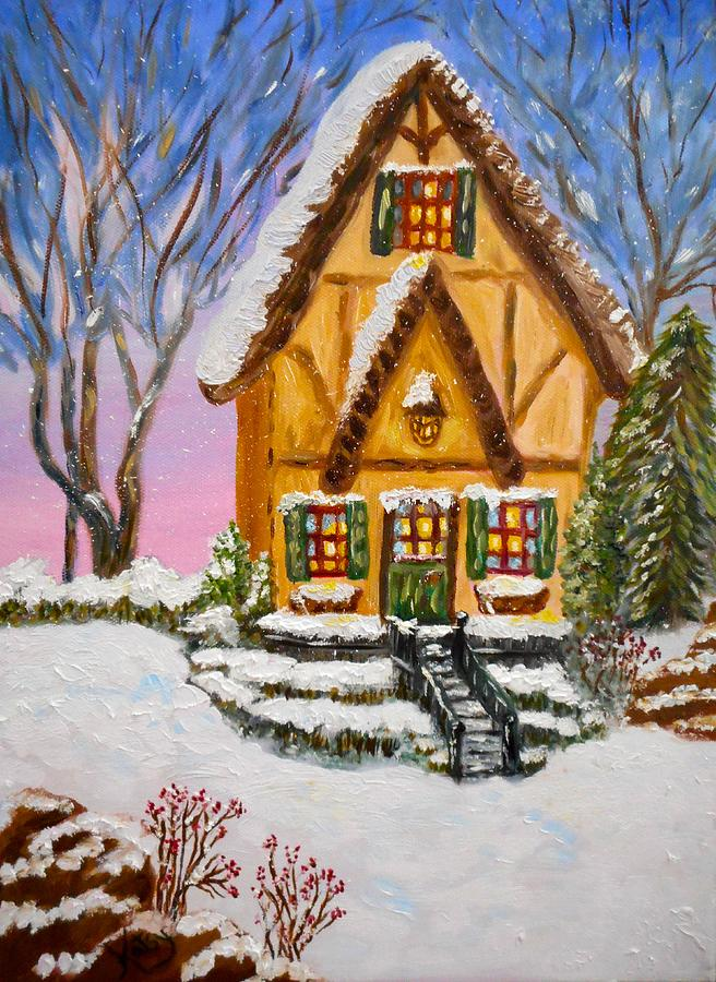 Art Gingerbread House Painting