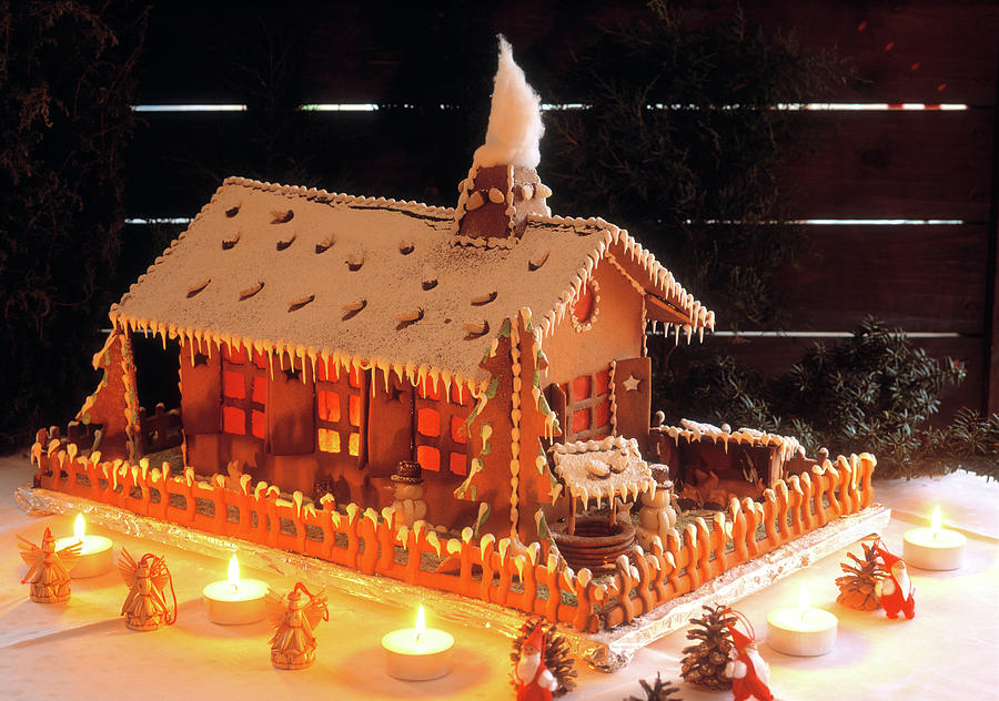 Horizontal Photograph - Gingerbread House, Traditional by Panoramic Images