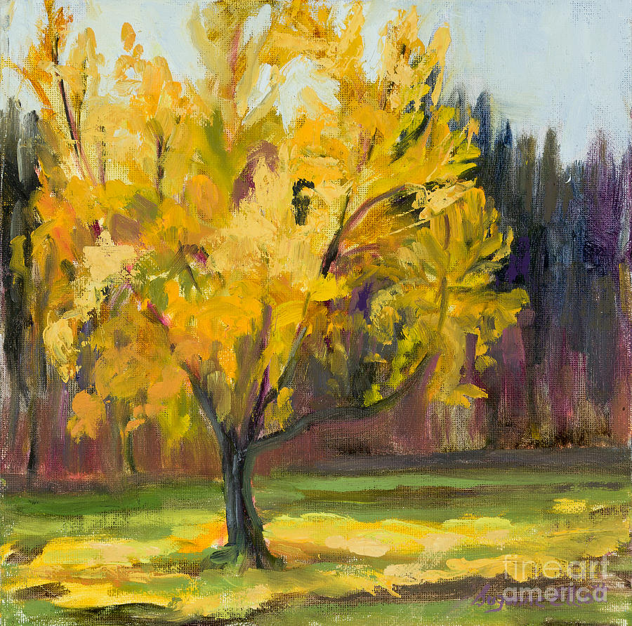 Landscape Painting - Ginko Glory by Suzanne Elliott