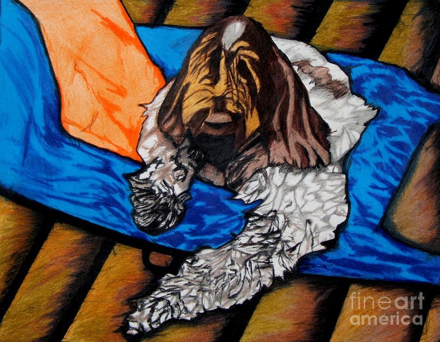 Dog Drawing - Giorgio by Jon Kittleson