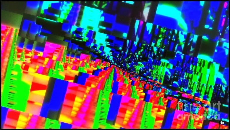 Arcobaleno Giorno Note Tutti Colori Blu Roso Gialo Nero Turchese La Rossa  Roso Olive Spechio Photograph - Giorno -note Spechiamento by Halina Nechyporuk