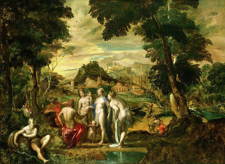 The Judgement Of Paris Painting by Gaetano Gandolfi