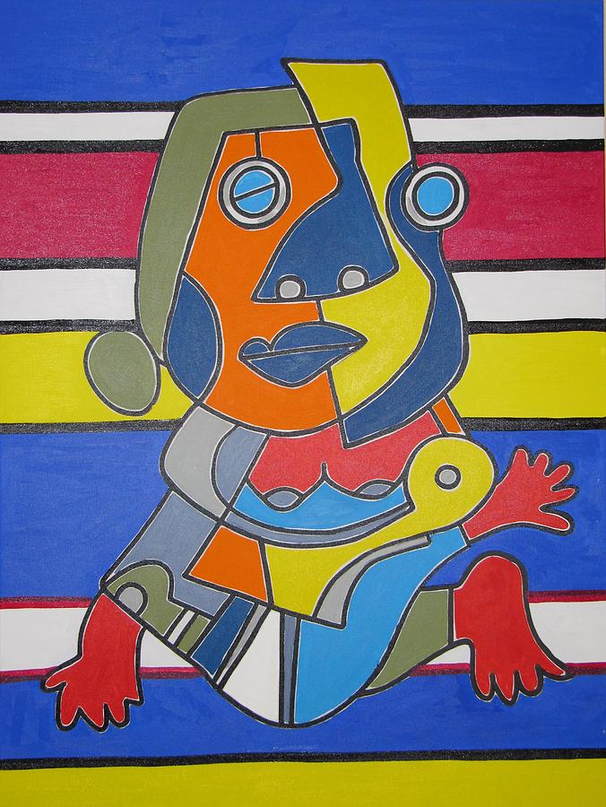 Gipsy Woman Painting by Daniel Burtea