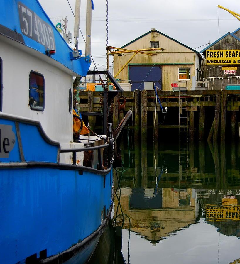 Fishing Boat Photograph - Girabaldi Square by Mamie Gunning
