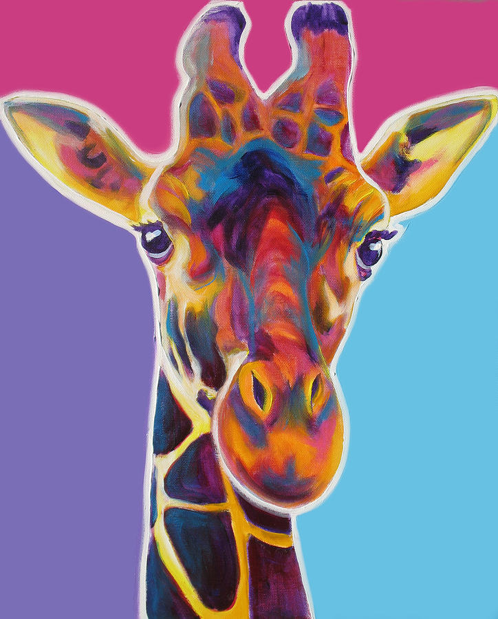 Giraffe Marius Painting By Alicia Vannoy Call